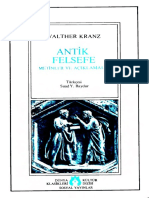 Walther Kranz - Antik Felsefe