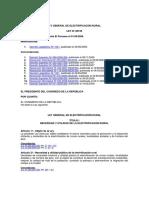 Ley Electrificacion Rural -28749-Concordado