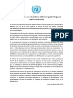 ONU Sobre Currículo Nacional de Educación en Perú