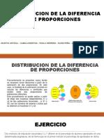 Distribucion de La Diferencia de Proporciones y Cociente de Varianzas de Dos Poblaciones (1)