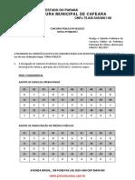 Gabarito Psicologia Cafeara 2017 Fauel - Gabarito_preliminar