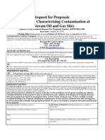 Guidance for characterizing contamination request for proposals