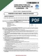 Prova Psicologia Londrina Promotor Saude Publica Serv Psicologia