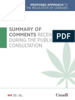 Summary Comments Public Consultation Regulation Cannabis
