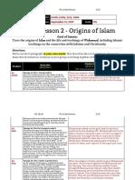 unit 1  lesson 2 - 7th grade - origins of islam- lipson gutman lipman