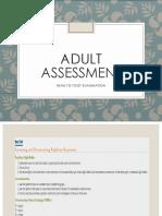Adult Assessment