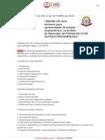 Decreto 111 2016 Pinhalzinho SC