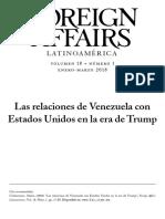 Las Relaciones de Venezuela Con Eeuu en La Era Tromp