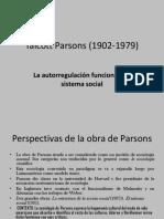El Estructural Funcionalismo de Talcott Parsons (1902-1979)