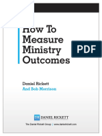 How to Measure Ministry Outcomes