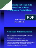 Dimension Social de Mineria en Peru. Zarzar. Bco. Mundial