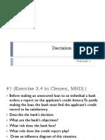 Decision Analysis Tutorial 1