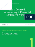 Crash Course in Accounting & Financial Statement Analysis