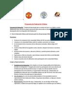 Propuesta de Federación Chilena
