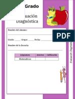 Prueba Diagnóstica Matematicas Cuarto