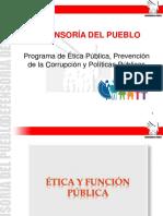 Ética y Función Pública