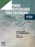Compendio de anestesiología para enfermería - 2da Edición - Francisco de Borja de la Quintana Gordon y Eloísa López López