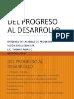 Progreso Evolucionista Orígenes del positivismo