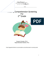 reading comprehension screening for second grade
