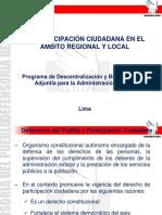 La Participación Ciudadana en El Ámbito Regional y Local