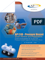 API 510 - Pressure Vessel (Exam Review and Preparation)