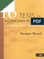 16 tesis economía política - Enrique Dussel