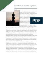 Comportamiento de Fases en Muestras de Petróleo Volátil
