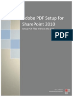 Adobe PDF Setup for SharePoint 2010