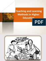 4.1 Teaching and Learning Methods in Higher Education
