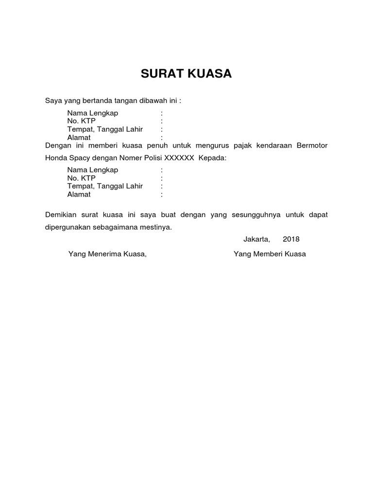 By Duoc Lieut Un Hien Surat Kuasa Pajak 5 Tahunan
