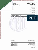 NBR13541-1 - Lingas de Cabo de Aço - Metodos de Ensaios