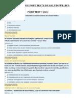 Compilación de Post Tests de Salud Pública