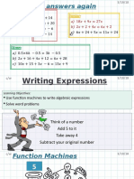 Writing Expressions 2