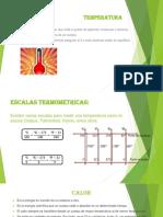 TEMPERATURA, Calor y Dilatacion, Diapositiva