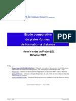 2008 - Etude comparative de plates-formes de formation à distance