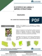 SEMINARIO ANÁLISIS ESTÁTICO NO LINEAL Y DESEMPEÑO ESTRUCTURAL
