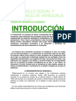 Desarrollo Social y Economico de Venezuela