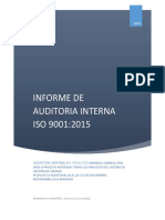 Informe de Auditoria Interna Iso 9001 2015