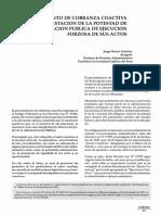 El Procedimiento de Cobranza Coactiva Como Manifestacion de La Potestad de La Administracion Publica de Ejecucion Forzosa de Sus Actos