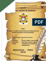 El Niño y La Niña Caracteristica Dependencia de Potencialidades Cultura Andina