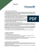 Normas de publicación Revista Chasqui