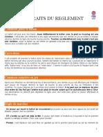 Extraits Du Reglement Basket