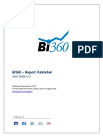 Bi360 - Report Publisher User Guide 3.5