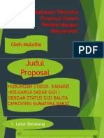 Pembahasan Rencana Proposal Dalam Pemberdayaan Masyarakat