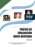 Pautas de Evaluación Bucodentaria