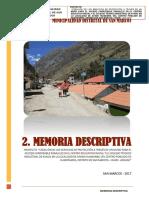 2.- Memoria Descriptiva