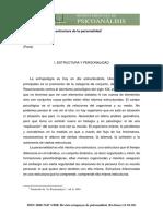 El psicoanálisis y la estructura de la personalidad