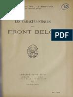 Les Caractéristques du Front Belge
