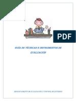 Guia de Tecnicas e Instrumentos de Evaluacion.