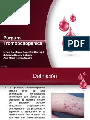 Que es purpura enfermedad